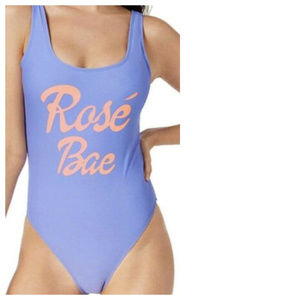 California Waves Rose Bae One Piece Swimsuit Blue